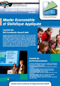 Page 1 Master_ESA_Lettre_2009