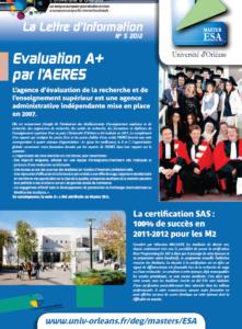 Page 1 Master_ESA_Lettre_2012